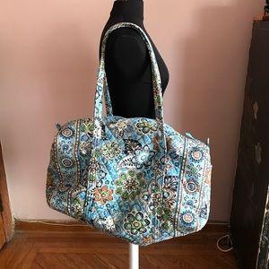 Vera Bradley large iconic travel duffle bag
